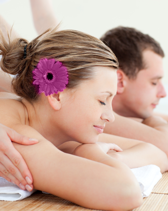 Couple Receiving a Massage