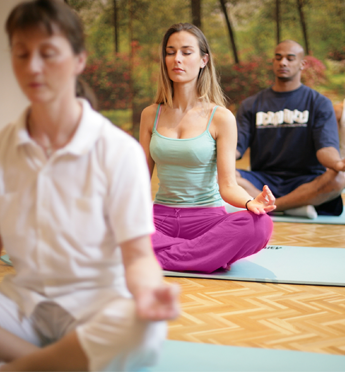 People during a Yoga Class
